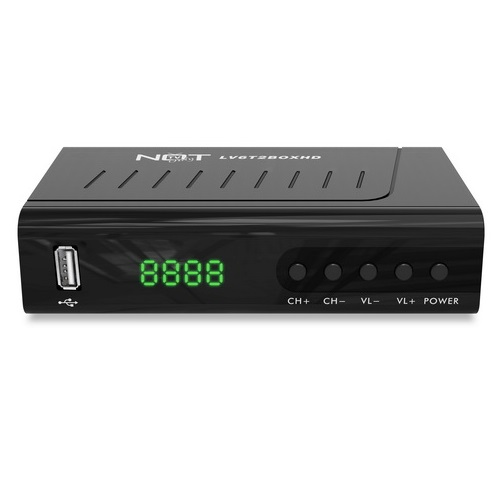 NOT ONLY TV DECODER LV6T2BOXHD RICEVITORE DIGITALE TERRESTRE T2 FULL HD