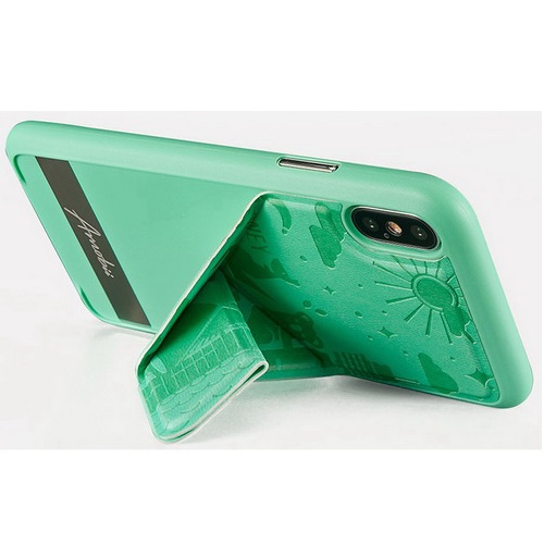 AMOBII COVER IPHONE-X NEW YORK ARANCIONE CS-A10NY11-OR MAGNETICA/STAND/SLIM