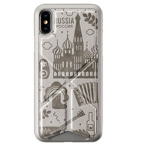 AMOBII - Cover Iphone-x & Xs Parigi Grigia Cs-a10pa11-gy Magnetica