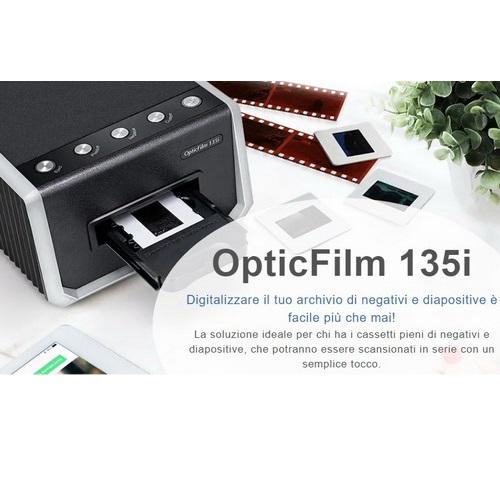 SCANNER PLUSTEK OPTIC FILM 135I diversi formati di pellicole da 35mm 7200dpi